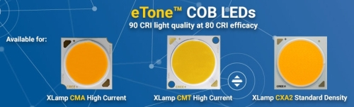 Packaged LED news: Cree high-CRI COBs, Lumileds packages CSP with dome