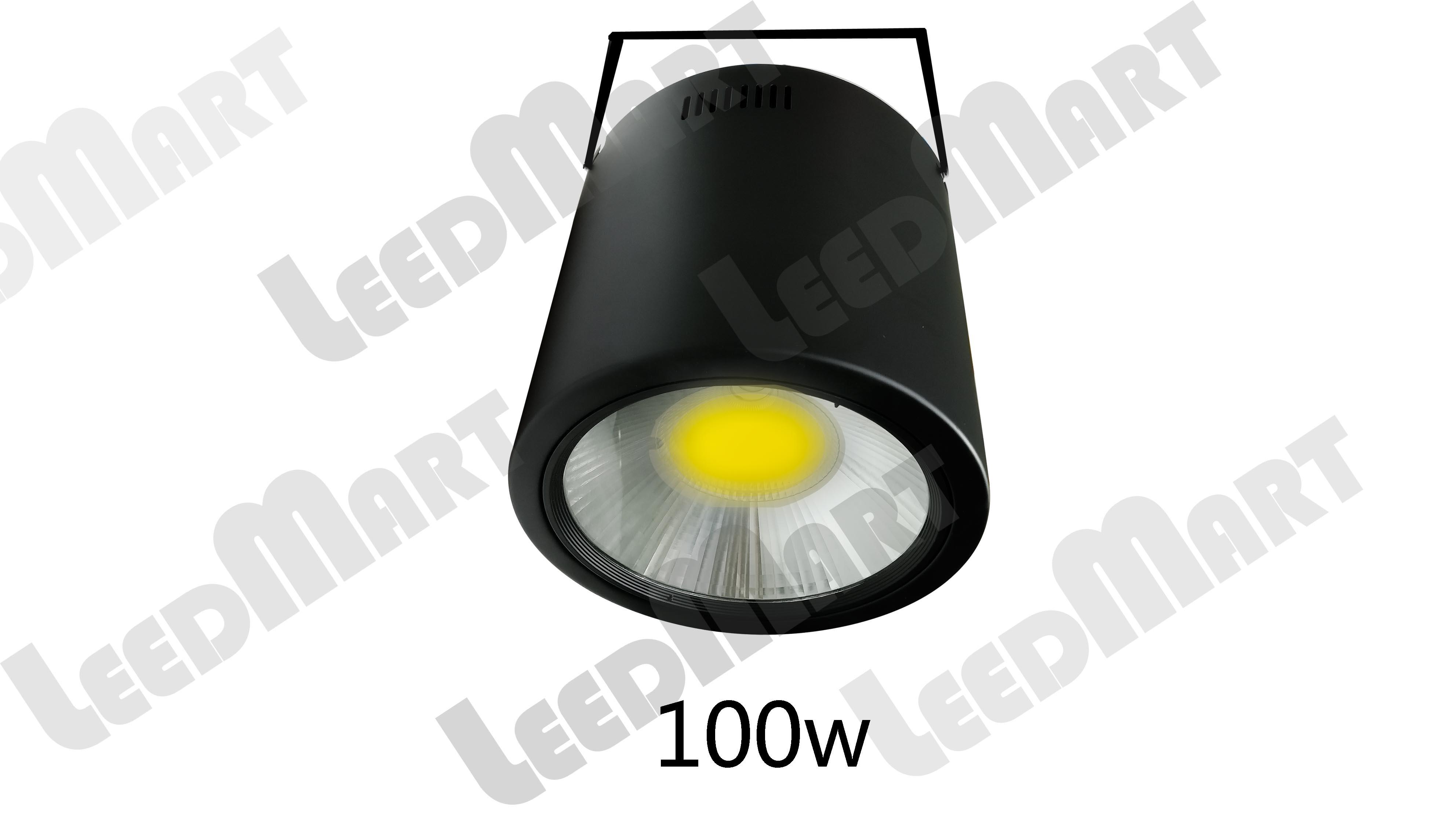 100 watt-400 watt 52000 lumen equivalent white integrated LED round high bay ceiling light fixture dustproof