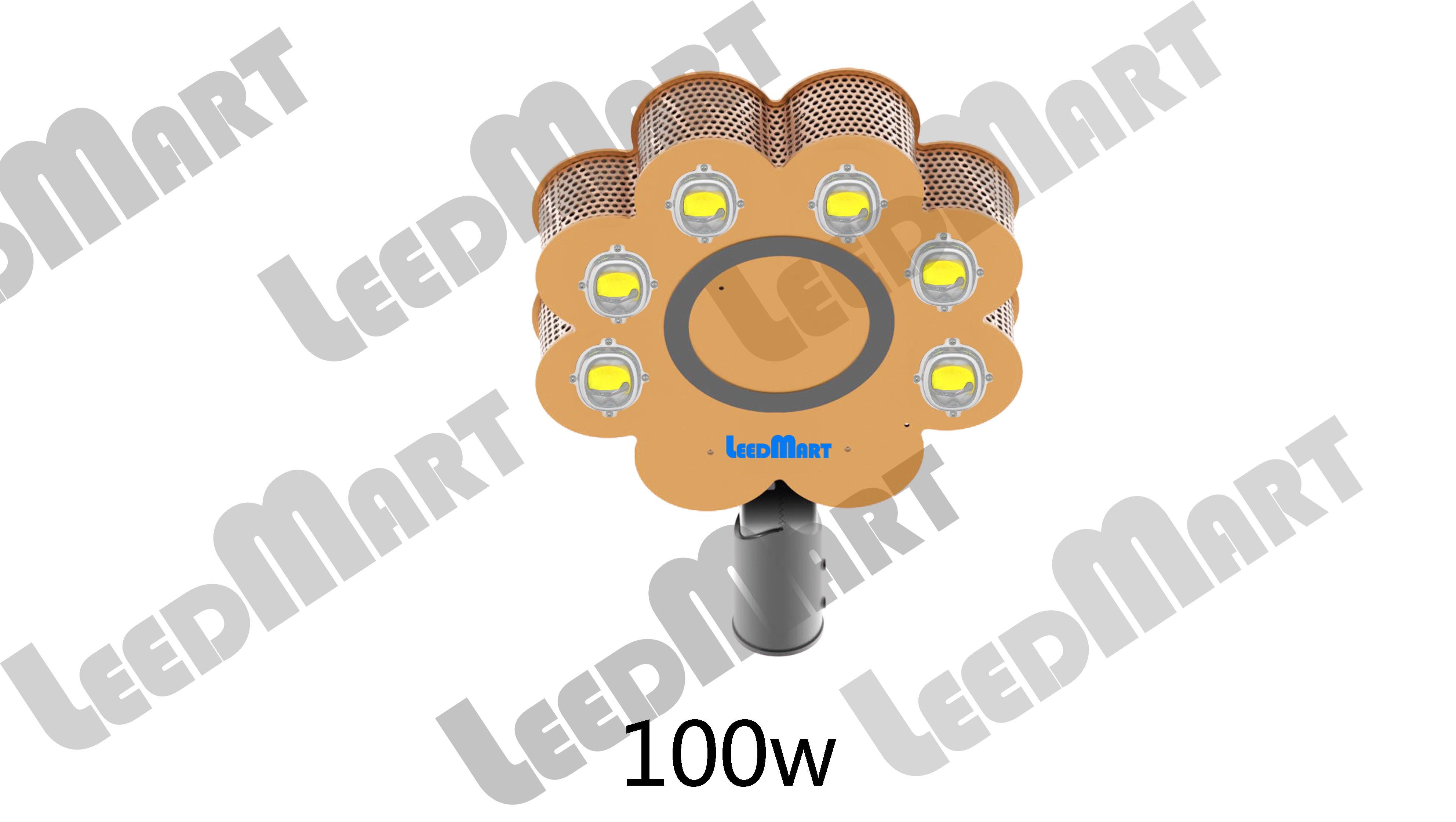 Unparalleled design 60 watt -210 watt 25200 lumen LED street light chrysanthemum style