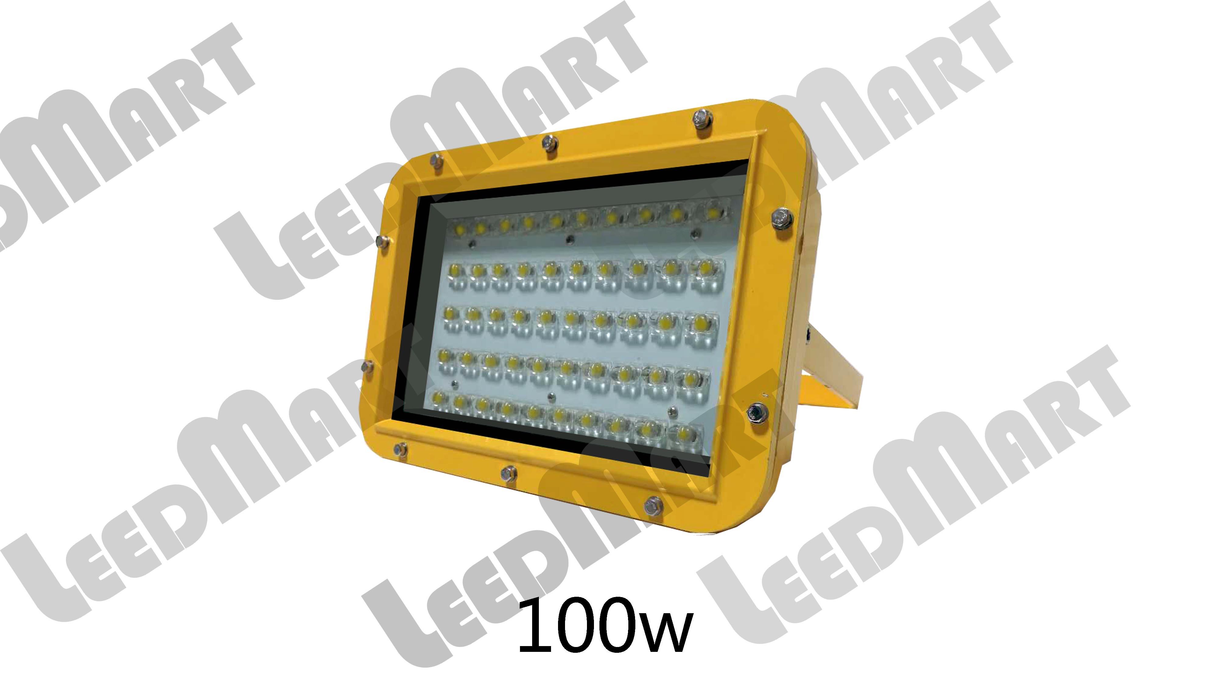 Square IP65 60watt-210watt 21000 lumen LED explosion Proof light fixture for mining, petrol Station