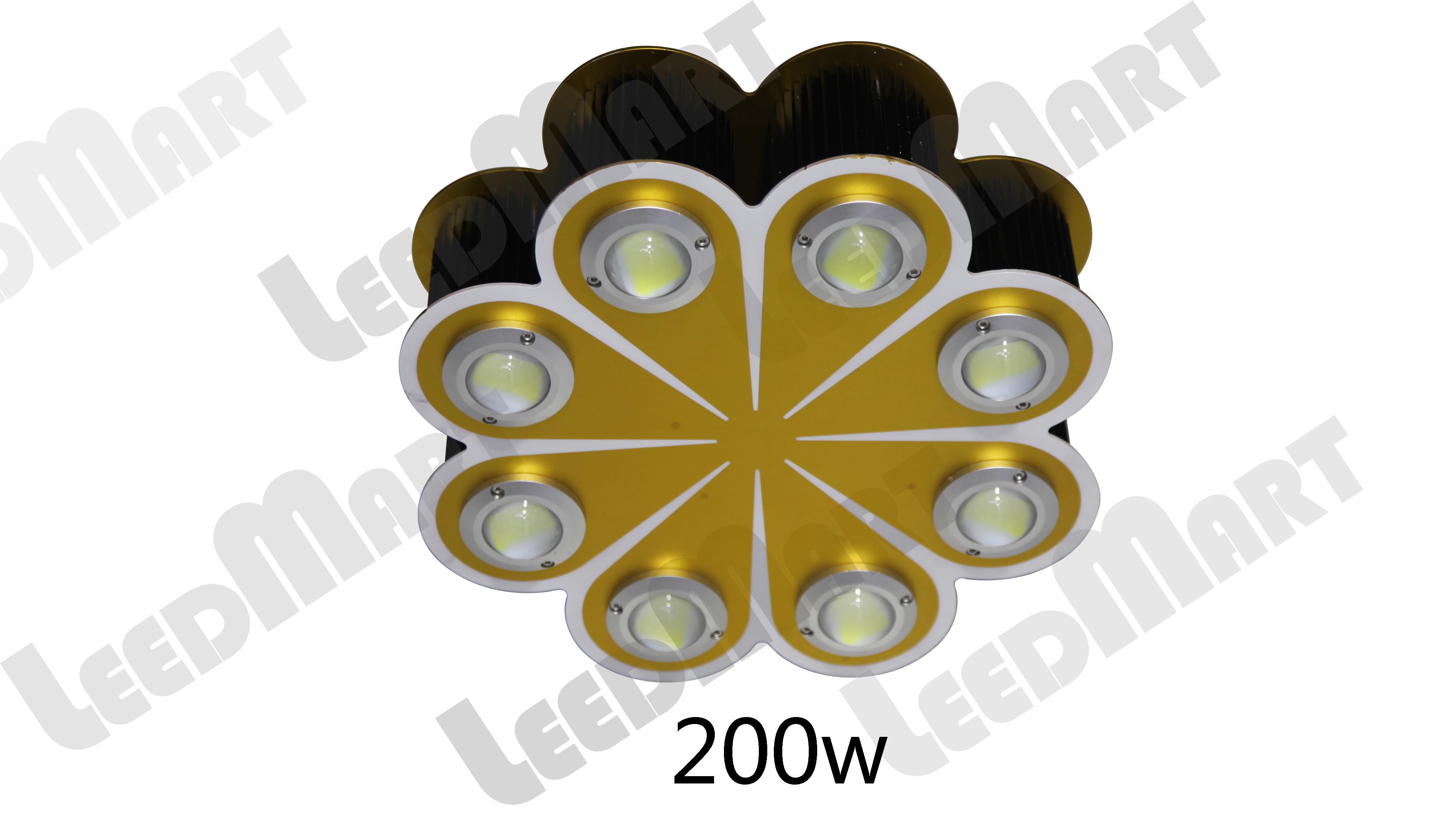 LED high bay light 100w-600w innovative orange artistic design warehouse industrial light fixture